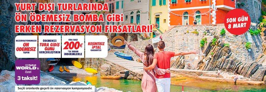 Yurt Dışı Turlarında Erken Rezervasyon Fırsatı!